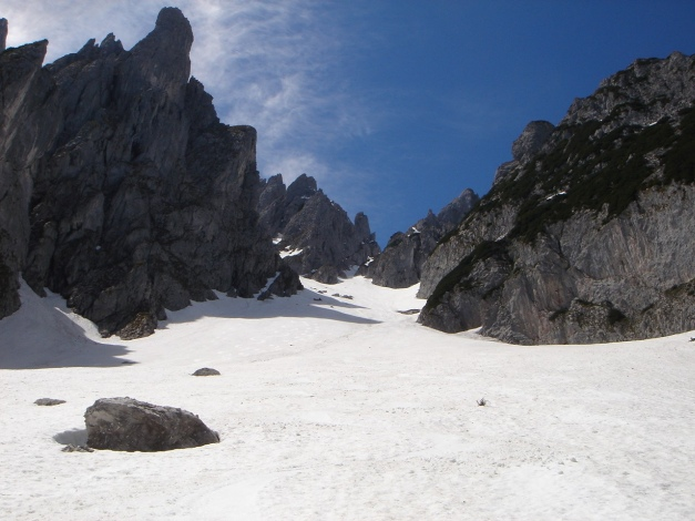 Foto: Manfred Karl / Ski Tour / Manndlscharte (2098m) / Rückblick in die Wasserriese / 27.01.2009 20:43:50