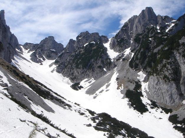 Foto: Manfred Karl / Ski Tour / Manndlscharte (2098m) / Weitkar, links oben Große Weitscharte / 27.01.2009 20:43:06