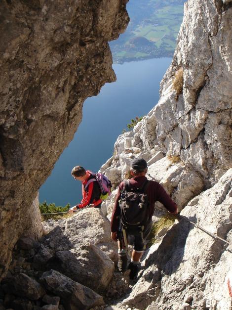 Foto: Manfred Karl / Kletter Tour / Südwestgrat / Oberer Teil beim Felsenfenster / 22.08.2009 21:40:12