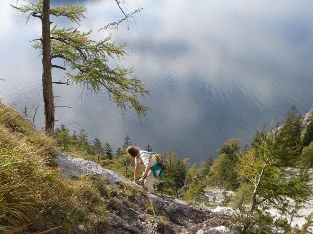 Foto: Manfred Karl / Kletter Tour / Südwestgrat / Naturfreundesteig im unteren Teil / 22.08.2009 21:39:26