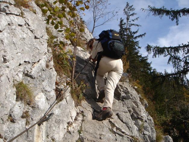 Foto: Manfred Karl / Kletter Tour / Südwestgrat / Die letzten Abstiegsmeter am Naturfreundsteig / 22.08.2009 21:39:00