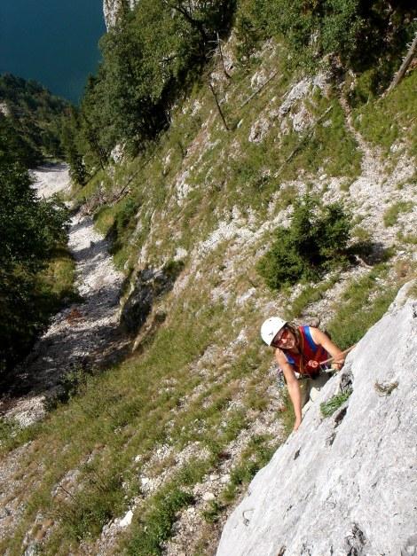 Foto: Manfred Karl / Kletter Tour / Sanduhrparadies / Erste SL / 27.08.2009 20:43:09