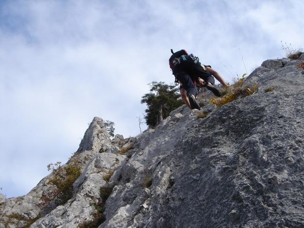 Foto: Manfred Karl / Kletter Tour / Sanduhrparadies / SL vor dem Wandbuch / 27.08.2009 20:41:23