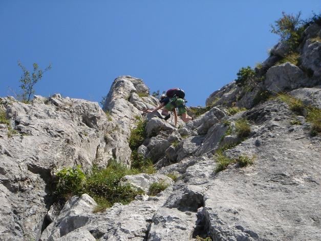 Foto: Manfred Karl / Kletter Tour / Sanduhrparadies / Verschneidungs-SL / 27.08.2009 20:39:45