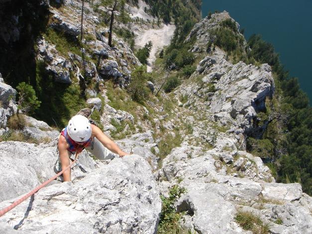 Foto: Manfred Karl / Kletter Tour / Sanduhrparadies / Vorletzte SL (Verschneidung) / 27.08.2009 20:38:38