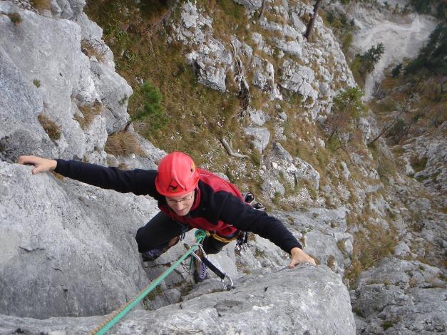 Foto: Manfred Karl / Kletter Tour / Sanduhrparadies / Verschneidung unterhalb des letzten Turmes / 27.08.2009 20:36:39