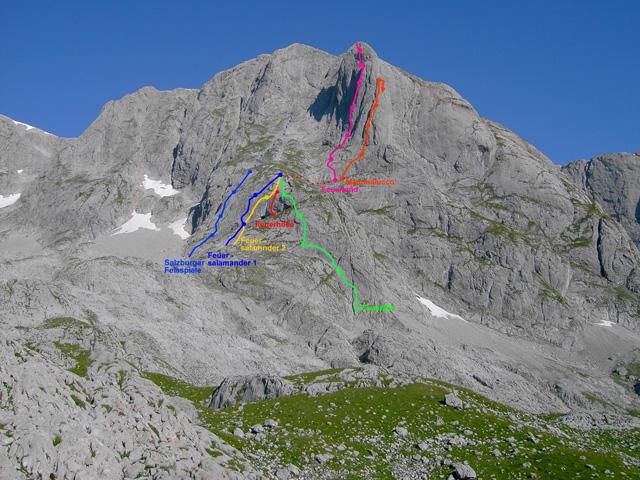 Foto: Kühberger Rudolf / Kletter Tour / Feuerland, VII+ / Als Zustieg zu den Routen