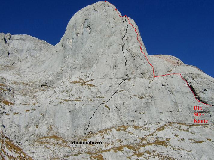 Foto: Kühberger Rudolf / Kletter Tour / Mammalucco, VII+ / 27.07.2010 15:06:42