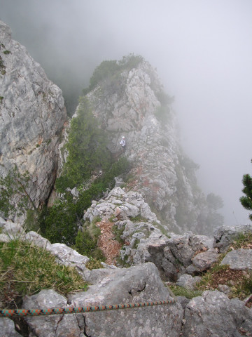 Foto: Wolfgang Lauschensky / Kletter Tour / Berchtesgadener Rinne / Schartenblick vom Gipfelgrat / 05.11.2010 16:24:02