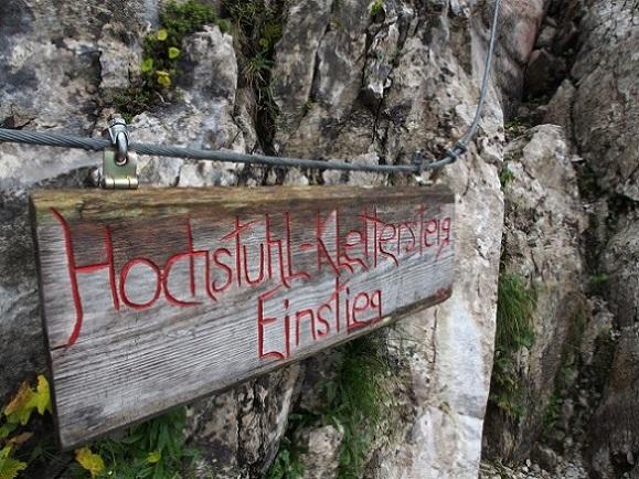 Foto: Andreas Koller / Klettersteig Tour / Hochstuhl Nordwand-Klettersteig (2238m) / 16.10.2014 00:41:45