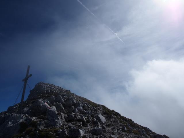 Foto: Andreas Koller / Klettersteig Tour / Hochstuhl Nordwand-Klettersteig (2238m) / Gipfel Hochstuhl / 16.10.2014 00:39:30