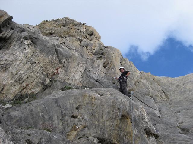 Foto: Wolfgang Lauschensky / Klettersteig Tour / Rote Saile (2879m) - Nordkanten-Klettersteig / am Gipfelgrat nach den Schwierigkeiten / 26.07.2011 23:33:28