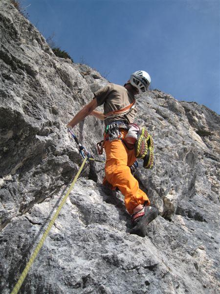 Foto: Heidi Schützinger / Kletter Tour / Luft intan Oarsch / die ersten drei Seillängen