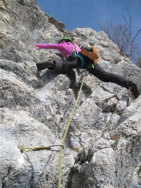 Foto: Heidi Schützinger / Kletter Tour / Luft intan Oarsch / in der 5. Seillänge / 16.11.2015 17:50:01