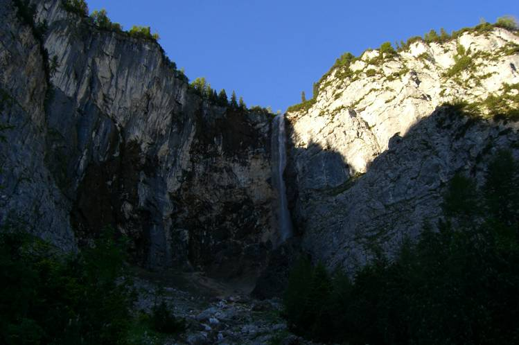 Foto: Thomas Paschinger / Klettersteig Tour / Klettersteig Seeben und Klettersteig Vorderer Tajakopf / Seebenbachfall / 25.07.2009 14:19:19