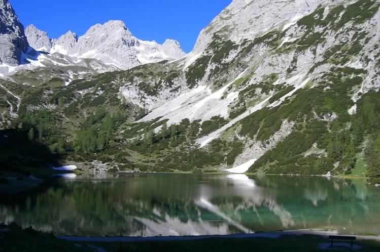Foto: Thomas Paschinger / Klettersteigtour / Klettersteig Seeben und Klettersteig Vorderer Tajakopf / Seebensee in der Früh / 25.07.2009 14:18:23