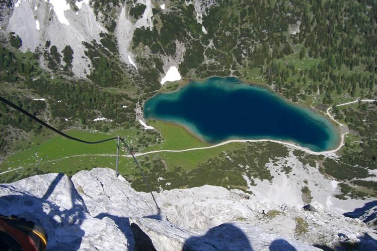Foto: Thomas Paschinger / Klettersteig Tour / Klettersteig Seeben und Klettersteig Vorderer Tajakopf / Klettersteig Tajakante und Seebensee / 25.07.2009 14:16:45