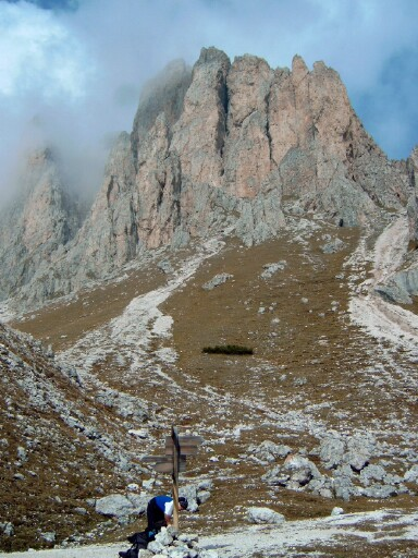 Foto: Andreas Koller / Klettersteigtour / Sass Rigais Ostgrat-Westgrat Klettersteige (3025 m) / 09.05.2008 14:54:09