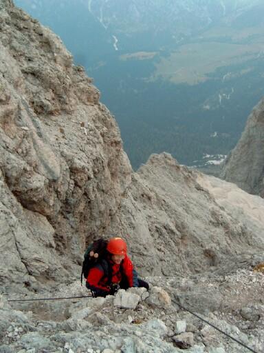 Foto: Andreas Koller / Klettersteigtour / Sass Rigais Ostgrat-Westgrat Klettersteige (3025 m) / 09.05.2008 14:53:35