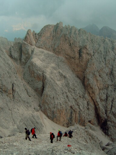 Foto: Andreas Koller / Klettersteigtour / Sass Rigais Ostgrat-Westgrat Klettersteige (3025 m) / 09.05.2008 14:53:27