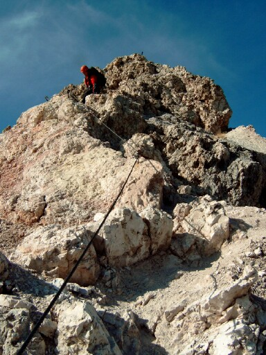 Foto: Andreas Koller / Klettersteigtour / Sass Rigais Ostgrat-Westgrat Klettersteige (3025 m) / 09.05.2008 14:52:36