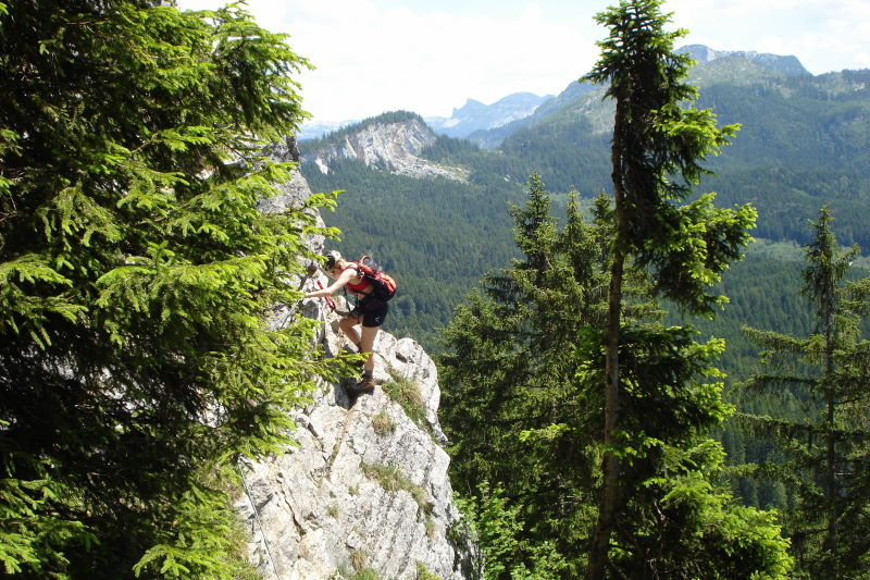 Foto: Günter Siegl / Klettersteig Tour / Ewige Wand-Klettersteig und Leadership-Klettersteig / Leadership - gelungener Genuss-Klettersteig / 06.06.2011 09:26:50