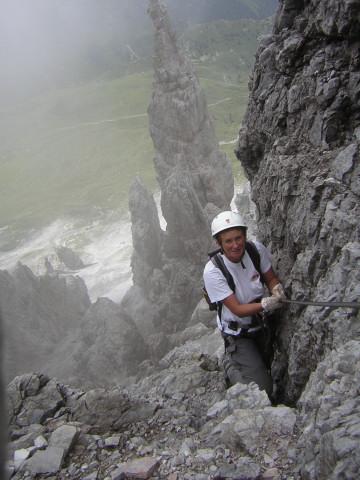Foto: Wolfgang Lauschensky / Klettersteig Tour / Über den Schlicker Klettersteig auf die Große Ochsenwand / leichterer Abstiegsklettersteig in bizarrer Umgebung / 11.10.2012 09:30:38
