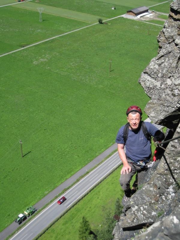 Foto: klausirieger / Klettersteig Tour / Reinhard Schiestl Klettersteig / Schön ausgesetzt! / 06.08.2010 23:08:09