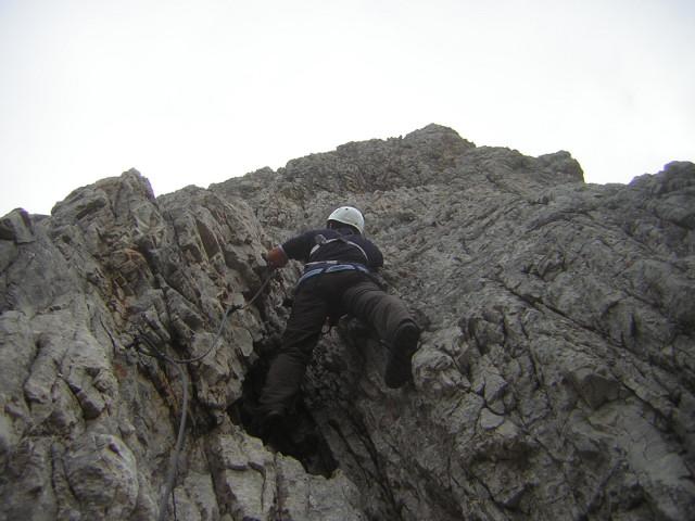 Foto: Wolfgang Lauschensky / Klettersteigtour / Klettersteig Ilmspitze / stets steiler Anstieg / 22.07.2011 18:36:45
