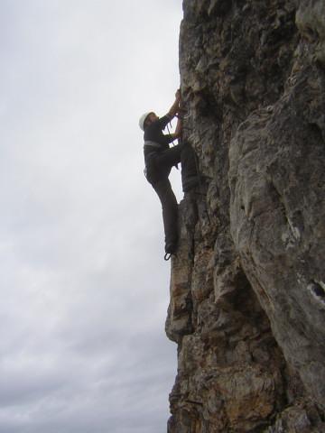 Foto: Wolfgang Lauschensky / Klettersteigtour / Klettersteig Ilmspitze / gut gesicherte Senkrechte / 22.07.2011 18:36:33