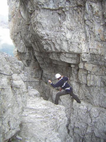 Foto: Wolfgang Lauschensky / Klettersteigtour / Klettersteig Ilmspitze / Spreizschritt / 22.07.2011 18:36:17