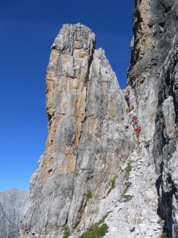 Foto: Wolfgang Lauschensky / Klettersteig Tour / Bocchette Weg - Sentiero SOSAT / Klettersteigstart / 30.08.2013 21:18:58