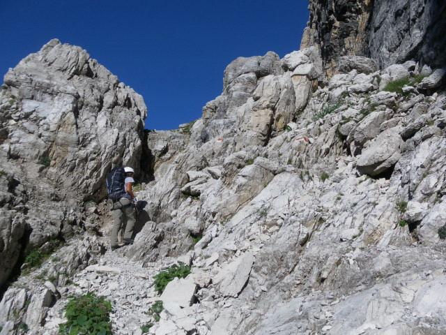 Foto: Wolfgang Lauschensky / Klettersteig Tour / Bocchette Weg - Sentiero SOSAT / einfaches Gelände / 30.08.2013 21:18:47