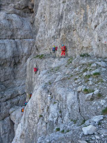 Foto: Wolfgang Lauschensky / Klettersteig Tour / Bocchette Weg - Sentiero SOSAT / Abklettern in die Schlucht / 30.08.2013 21:18:03