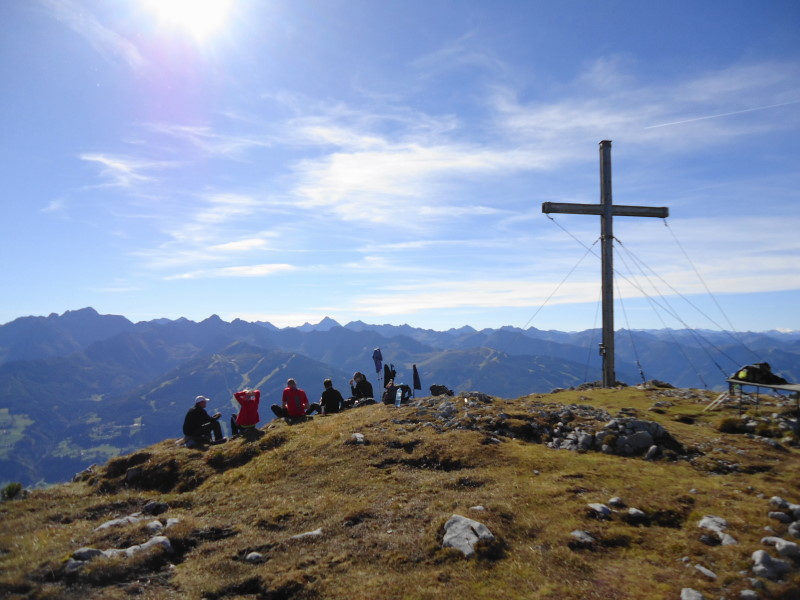 Foto: Günter Siegl / Wander Tour / Ahornsee - Grafenbergalm - Kufstein (2049m) / Gipfel Kufstein / 31.10.2014 10:17:55