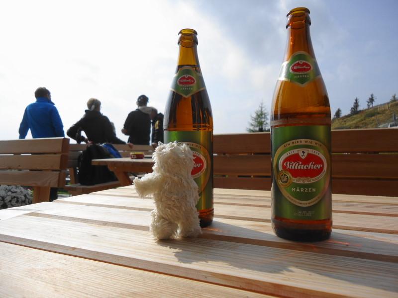 Foto: Günter Siegl / Wander Tour / Rundweg über Tschiernock, Hochpalfennock und Tschierweger Nock / Basty bei der Millstätter Hütte / 10.11.2016 21:13:47