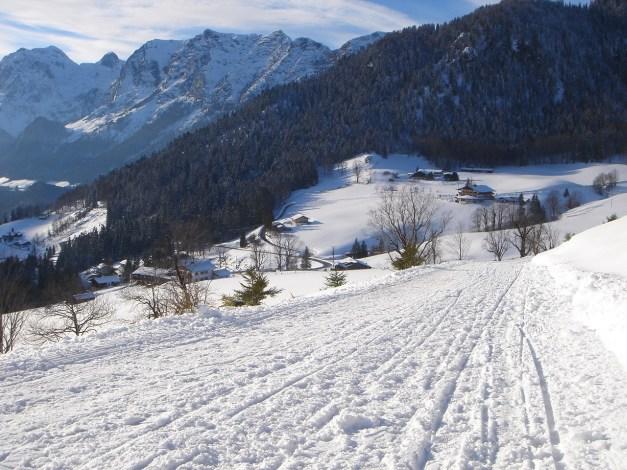 Foto: Manfred Karl / Rodeltour / Toter Mann (1391m) / Kurz vor dem Eintritt in den Wald / 18.12.2008 12:32:56