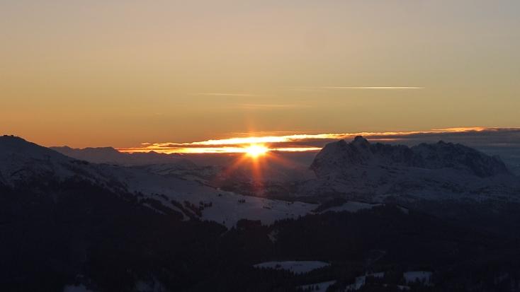 Foto: Manfred Karl / Ski Tour / Peitingköpfl (1720m) / Sonnenuntergang am Peitingköpfl / 18.03.2015 20:17:32
