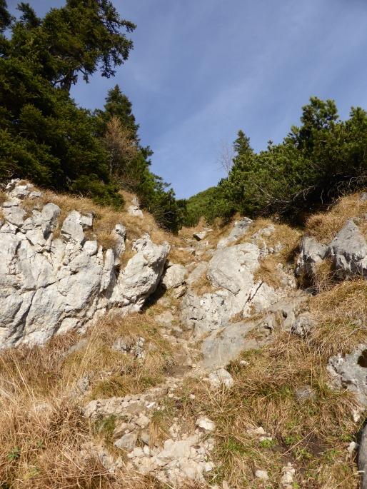 Foto: Manfred Karl / Wander Tour / Brettgabel (1805m) / In der Rinne, die zur Brettgabel führt / 26.10.2016 12:19:32