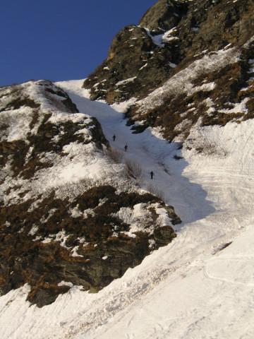 Foto: Wolfgang Lauschensky / Skitour / Von Sportgastein auf das Schareck / kurze Steilrinne / 22.04.2012 18:25:00
