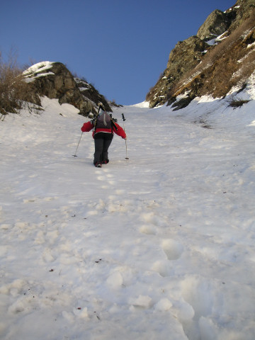 Foto: Wolfgang Lauschensky / Skitour / Von Sportgastein auf das Schareck / meist besser zu Fuß zu überwinden / 22.04.2012 18:24:49