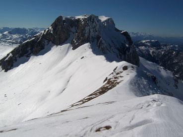 Foto: Datzberger Hans / Ski Tour / Hinterer Polster (2057m) / Gr.Ebenstein und Polstersattel beim Aufstieg zum Hinteren Polster / 27.03.2008 13:05:58