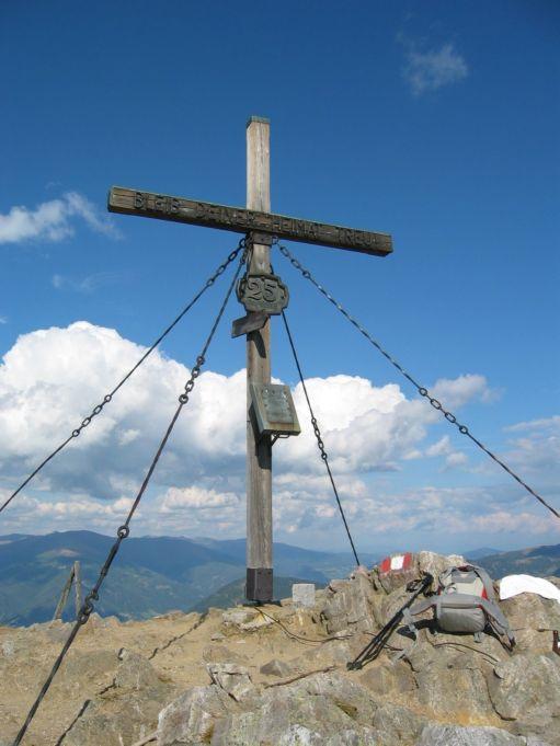 Foto: Gernot Huber / Wander Tour / Mirnock, 2110 m / Gipfelkreuz Mirnock / 05.03.2010 19:40:11