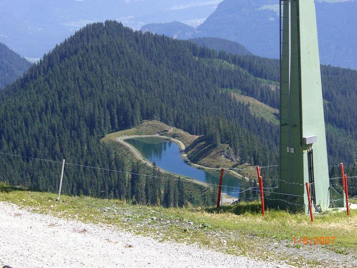 Foto: Charly Weigarten / Mountainbike Tour / Kaunzalm / Von der Bergstation Spieljochbahn zum Speichersee, (kurzer Abstecher, sehr zu empfehlen, super Ausblick) / 02.08.2009 19:50:10