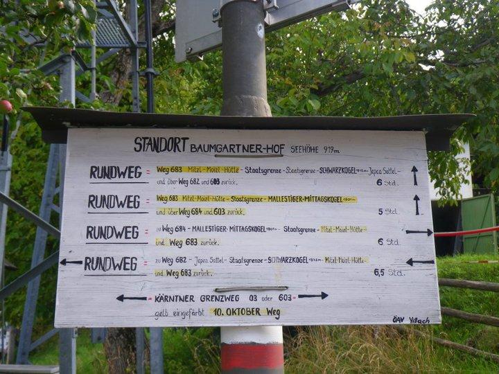 Foto: drjones31 / Wander Tour / Mallestiger Mittagskogel / Ausgangspunkt Baumgartnerhof / 18.08.2010 15:32:42