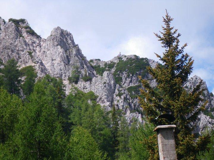 Foto: drjones31 / Wander Tour / Mallestiger Mittagskogel / Blick von der Mitzl-Moitzl Hütte Richtung Gipfel / 18.08.2010 15:33:14