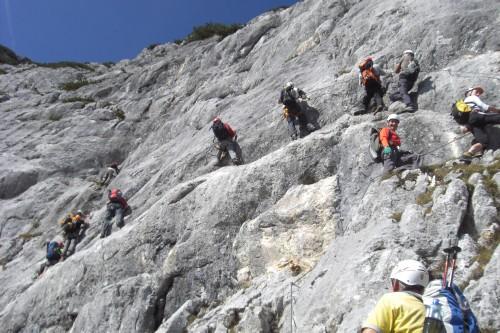 Foto: hofchri / Klettersteig Tour / Hochthron-Klettersteig  / auf zur Rauhen Welt (C/D) / 23.02.2009 19:41:41