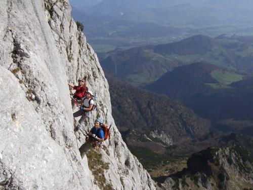 Foto: hofchri / Klettersteig Tour / Hochthron-Klettersteig  / Finale (C) / 23.02.2009 19:42:10