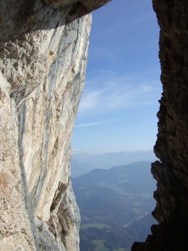 Foto: hofchri / Klettersteig Tour / Hochthron-Klettersteig  / Ausblick beim Abstieg / 23.02.2009 19:44:31