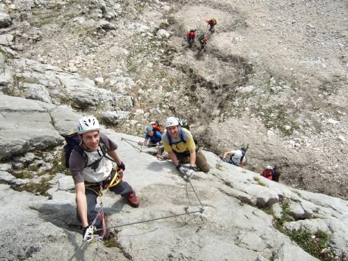 Foto: hofchri / Klettersteig Tour / Hochthron-Klettersteig  / Einstiegswand (B/C) / 23.02.2009 19:36:43